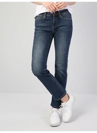 Colin's 792 Mıla Orta Bel Düz Paça Regular Fit Koyu Mavi Kadın Jean Pantolon Mavi